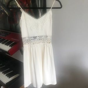 Topshop cream cotton sundress (with tags)